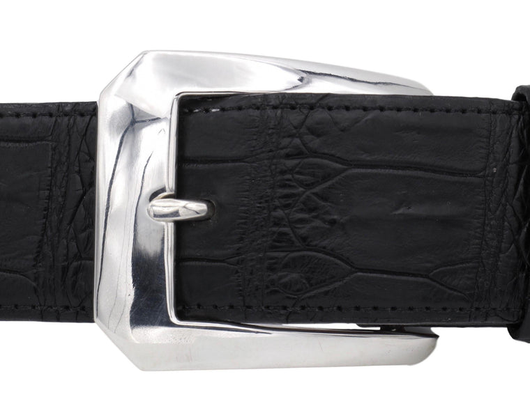 "Front view of the Clipped Corner Dress buckle on a 1.5"" strap."