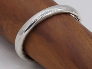 #DB-18 Sterling Narrow Cuff Carved Inside