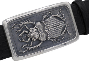 #1381 Beetle Sterling Trophy Buckle, 1.5""