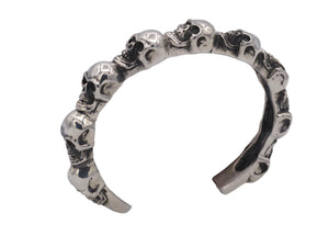 #DB-12 Multi Skull Cuff, Sterling