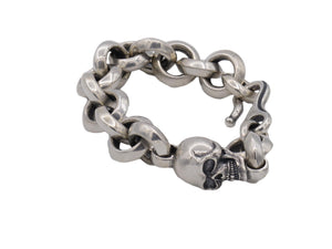 #DB-14 Large Single Skull Chunky Link Bracelet