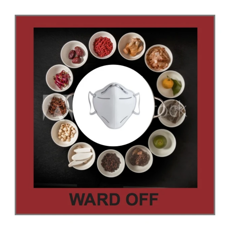 Ward Off!  Chinese Herbal Inserts for Face Masks
