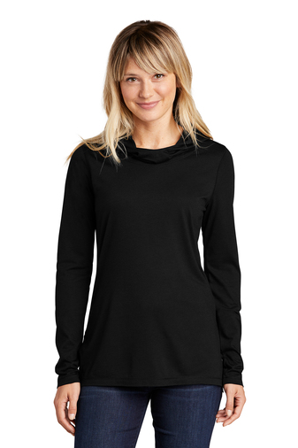 Ladies Tri-Blend Wicking Long Sleeve Hoodie