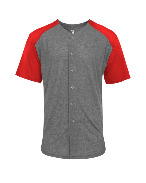 Tri-Blend Full Button Tee