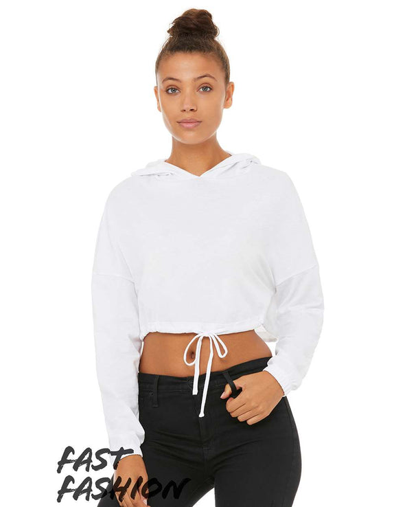 Fast Fashion Women's Cinched Cropped Hoodied