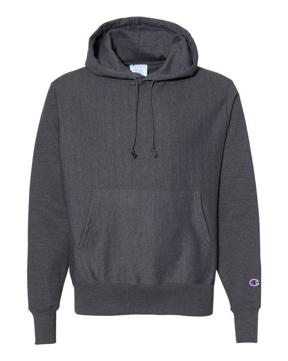 Reverse Weave Hooded Pullover Sweatshirt