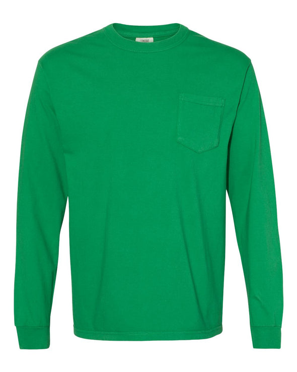 Heavyweight Garment-Dyed Long Sleeve Pocket T-Shirt