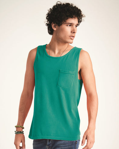 Garment-Dyed Heavyweight Pocket Tank Top