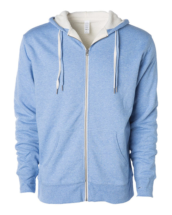 Unisex Sherpa-Lined Hooded Sweatshir