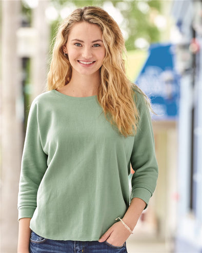Women's Lounge Fleece Dolman Crewneck Sweatshirt