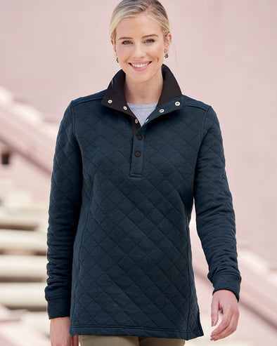 Women's Quilted Snap Pullover