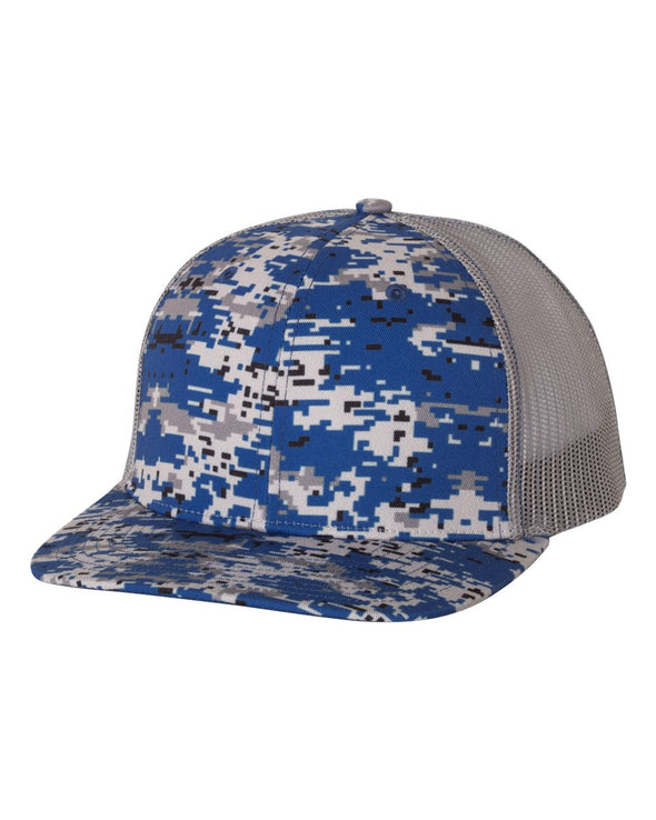 Patterned Snapback Trucker Cap