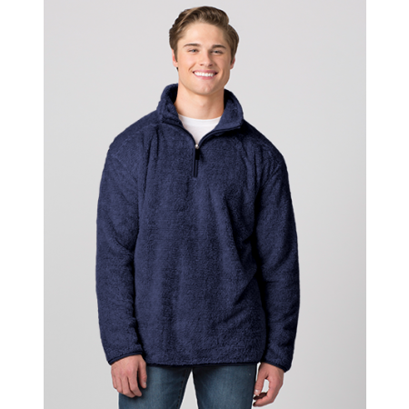Men's Fuzzy Fleece Quarter Zip Pullover