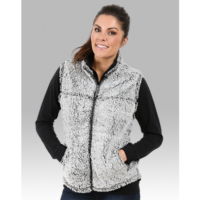 Ladies Full Zip Sherpa Vest