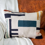 Agave Patchwork Wide Lumbar Pillow