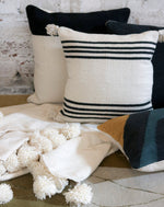 Lexington Stripe Pom Pillow