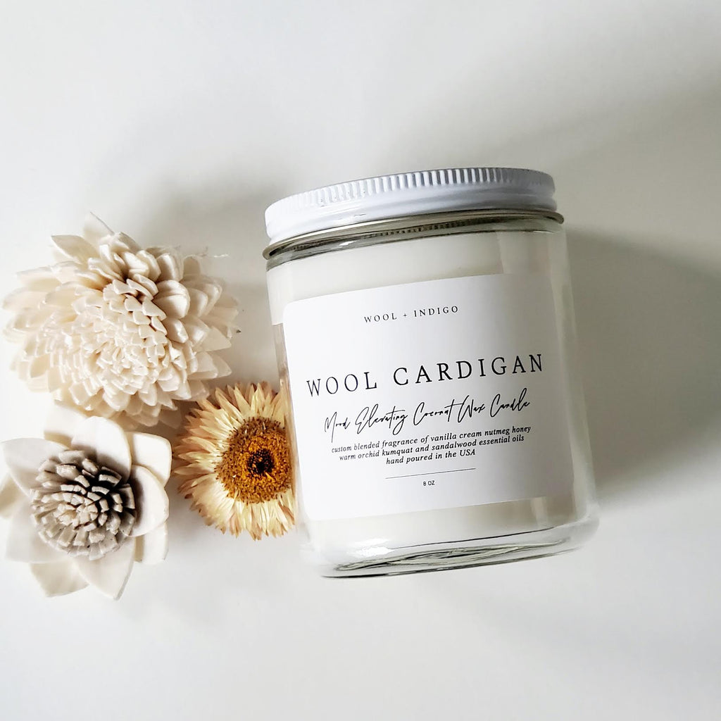 Wool Cardigan Candle