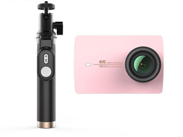 YI 4K Action Camera Selfie Stick Bundle