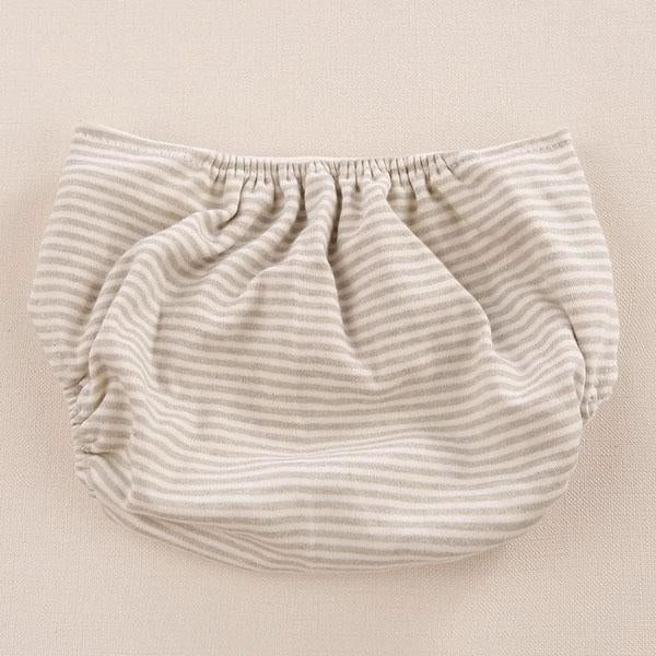Color Cotton Nappy Baby Organic Cloth Diapers Prevent Side Leakage Breathable Diaper Pants Stripe