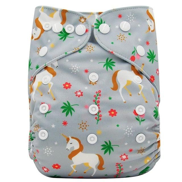 Ohbabyka Washable Diapers Baby Nappies Fox Animal Print Training Pants Adjustable Pocket Cloth Diapers Reusable Diaper Cover