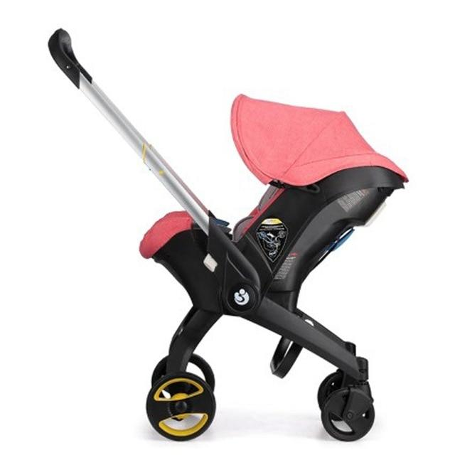 Kidlove 4 IN 1 Car Seat Stroller Baby Carriage Basket Portable Travel System Stroller with Safety Seat for 0-3 Years baby