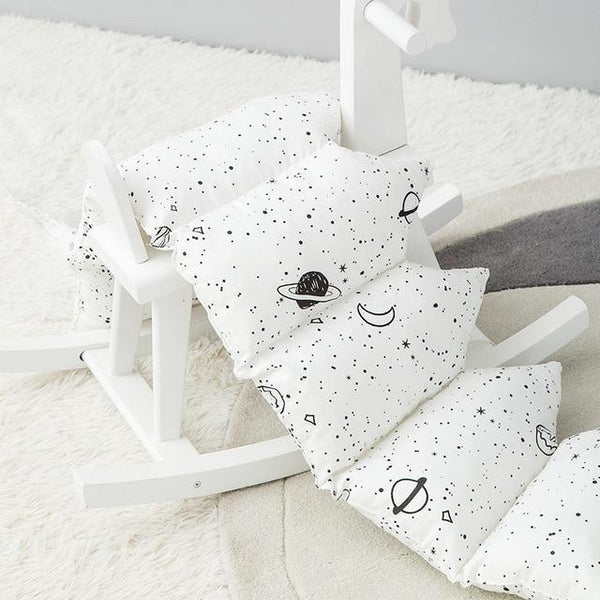 1 PC  mountain shape bumper breathable crib bumper baby cot sets baby bed protector 120x30 cm for baby bed rail  baby decor