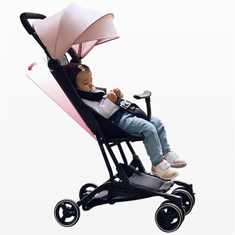 High Landscape Baby Stoller Plane Lightweight Portable Travelling Pram Umbrella Carriage On the Plane