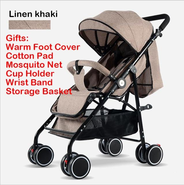 IIILOVEBABY Baby Stroller 2 in 1 Baby Carriage Lightweight Folding
