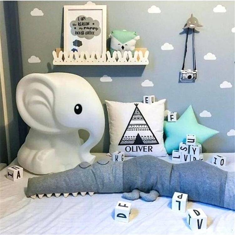 Alligator Shaped Baby Bed Bumper,Newborn Baby Crib Bumper,Kids One-piece Crib Around Cushion ,Baby Cot Protector Pillows