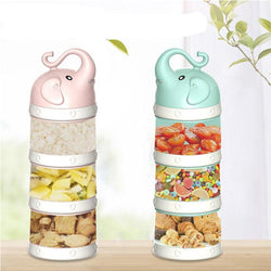 3 Grid Portable Multilayer Baby Food Storage Box Feeding Milk Powder Boxes Toddle Kids Formula Milk Container Practical Box