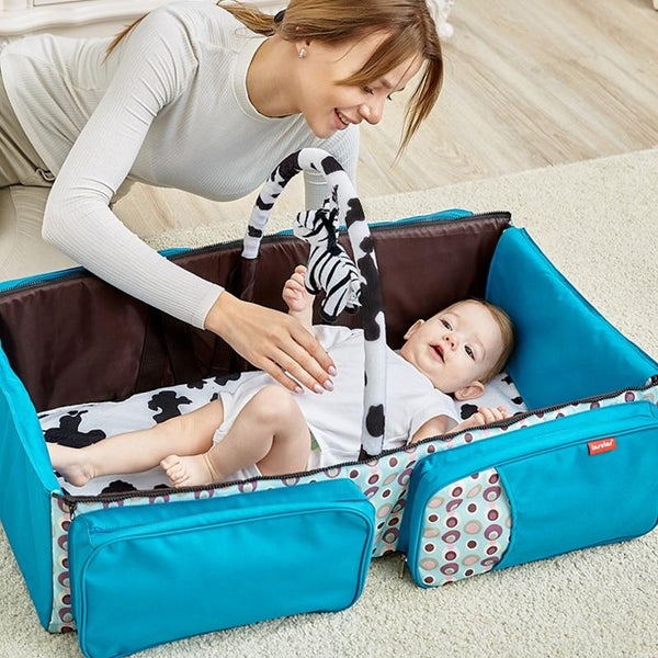 3 in 1 Infant Portable Cot Multifunctional Baby Travel Folding Bed With Mosquito Net Mommy Maternity Diaper Bag baby crib