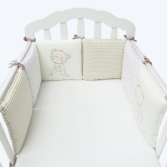 6Pcs/Lot Baby Bed Bumper in the Crib Cot Bumper Baby Bed Protector Crib Bumper Pads Cotton Blend Baby Bedding Safety Rail