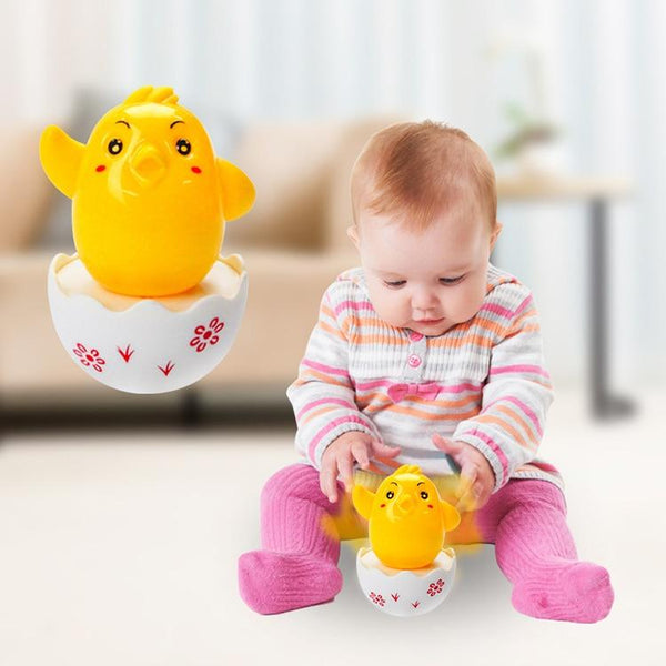 BalleenShiny New Baby Funny Tumbler Chick Toys Learning Education Toys Kids Toys Gifts Fashion Cute Eggs Tumbler Toys