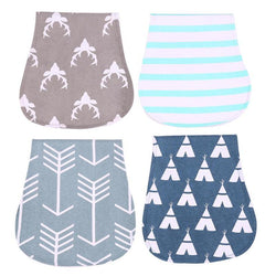 4pcs Cotton Newborn Baby Bibs Cute Feeding Bib Nursing Bandana Burp Cloth For Girls And Boys Double Side Baby Burp Milk Towels