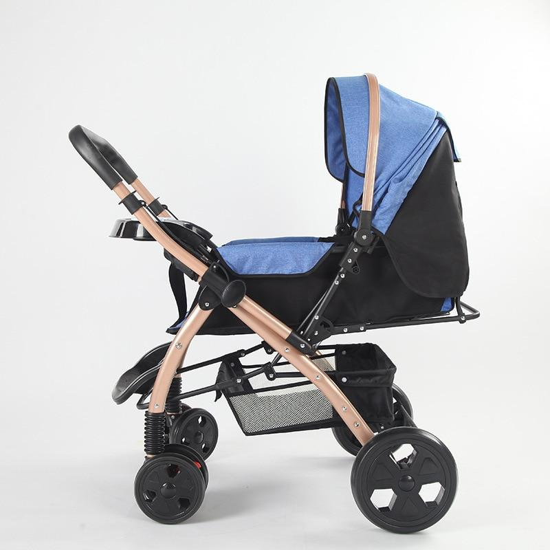 2018 Lightweight Baby Stroller Lie Flat Newborn Baby Carriage Pram Easy Folding Travel System Carry on Airplane Umbrella Car