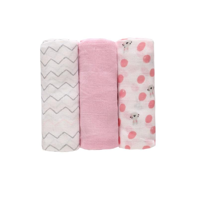 3PCS/LOT 70*70cm Baby Receiving Blanket 100% Cotton Muslin Soft Swaddle Wrap Cloth diaper Infant Nursing Cover Bath Towel Unisex