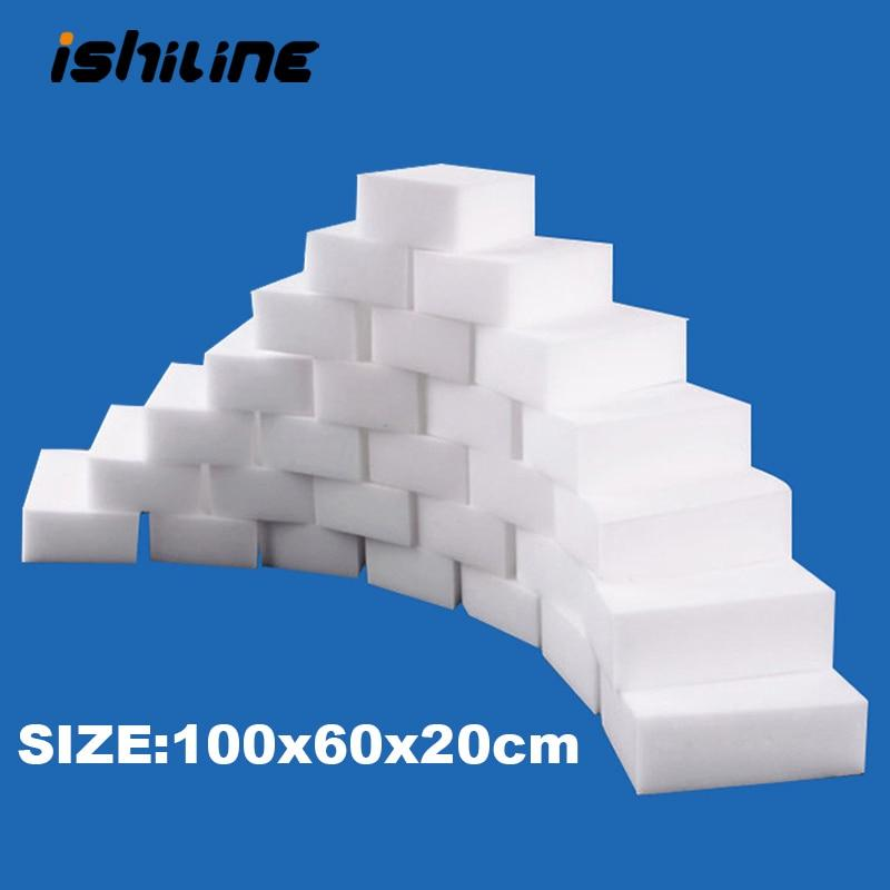 100 Pcs/lot Melamine Sponge Magic Sponge Eraser Melamine Cleaner for Kitchen Office Bathroom Cleaning Nano Sponges 10x6x2cm