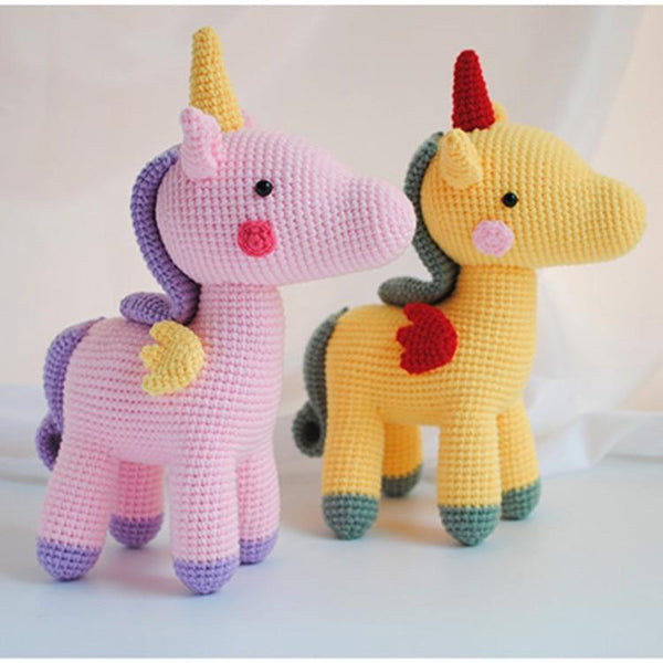 Cute Baby Girls Boys Photography Prop Photo Crochet Knit Toy Cute Little unicorn crochet Stuffed animals Handmade Knitted Toy