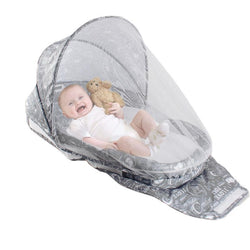 Baby Bed With Mosquito Net Portable Baby Crib Game Cotton Folding Bed With Cover Portable Children Cot With Sound Light