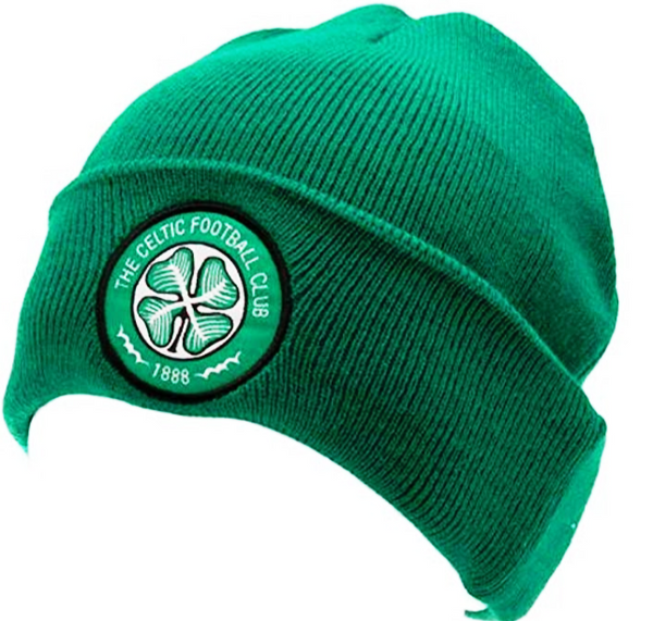 Celtic FC Cuff Navy Knitted Hat Beanie with Embroidered Club Badge.
