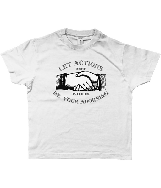 Kid's White Unisex 'Action' T-Shirt