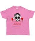 Bojest kid's t-shirt 'Let your vision be world embracing' on orchid pink