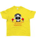 Bojest kid's t-shirt 'Let your vision be world embracing' on lemon yellow