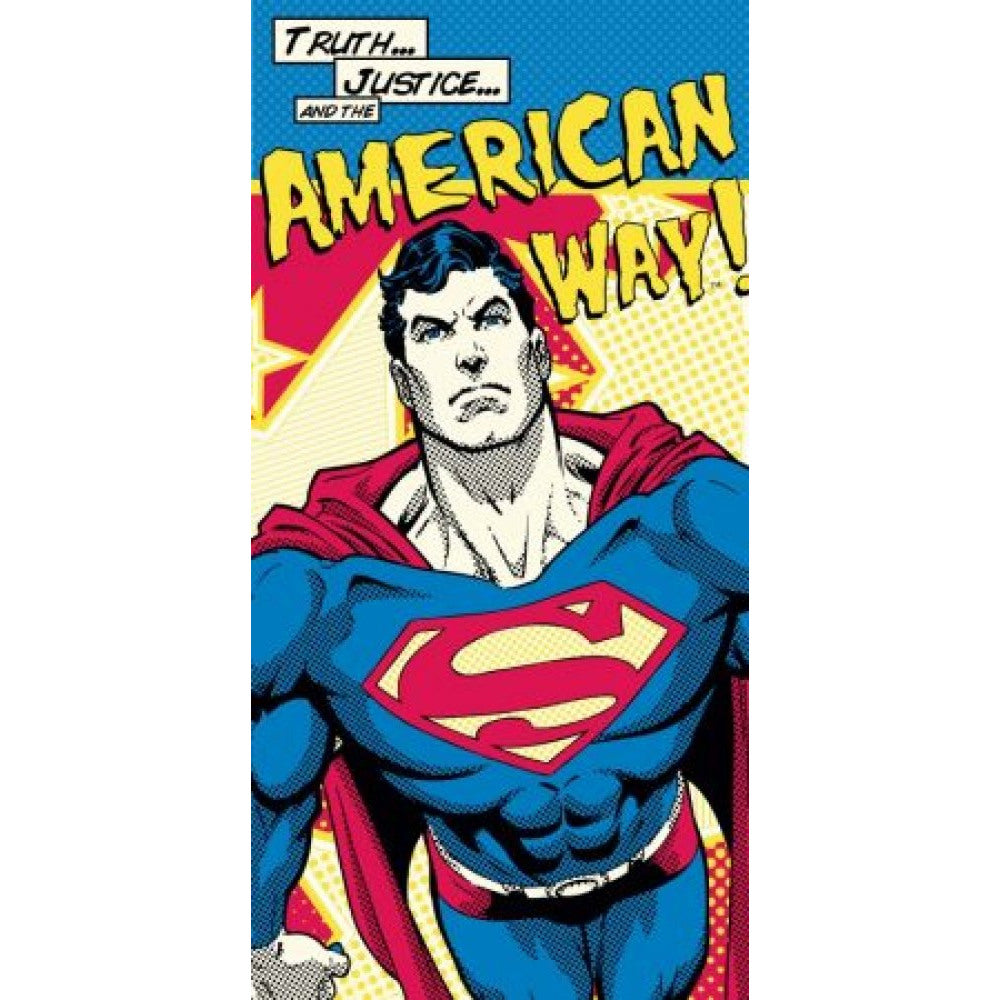 DC Comics Superman Beach Bath Towel.  Licensed product