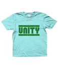Bojest Kid's Retro Light Blue/Green Unity T-shirt