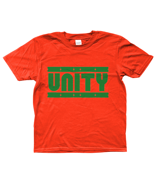 Bojest Kid's Retro Orange/Green Unity T-shirt