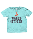 Bojest kid's t-shirt 'World Citizen' in light blue