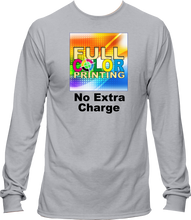 Load image into Gallery viewer, Sublimation Cotton Feel Long Sleeve Shirt