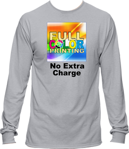 Sublimation Cotton Feel Long Sleeve Shirt