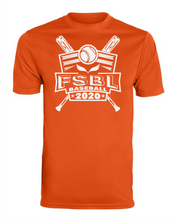 Load image into Gallery viewer, FSBL Bat Design Performance T-shirt